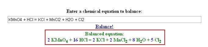 Химия - коэффициенты