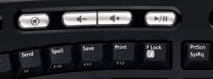 Microsoft Natural Ergonomic Keyboard 4000 Volume Control Buttons