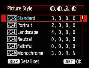 Canon Picture Styles