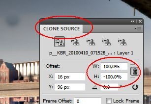 Clone Source for Mirrored Stamp