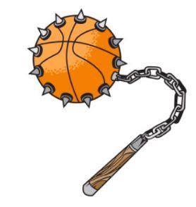 Булава эдакая, самоделка из баскетбольного мяча