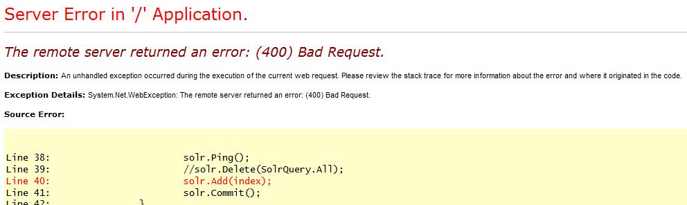 400 http error
