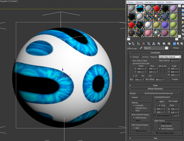 texture tiled even if tiling setting off - Autodesk Community- 3ds Max