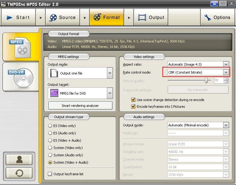Der MPEG Editor 2.0 bietet Ihnen verbesserte Funktionen der MPEG-Tools