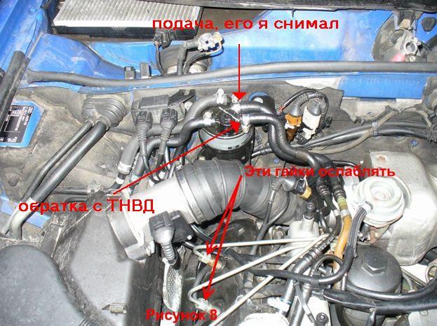 audi a6 2.5 tdi 1999г код двигатель afb не заводится