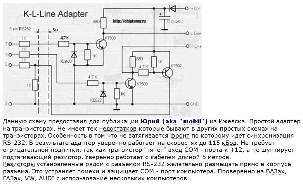 К лине адаптер схема