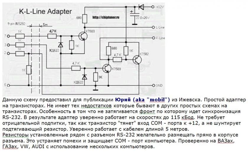 K l line usb адаптер своими руками