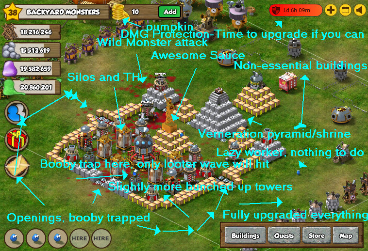 Backyard Monsters Base cc - forums > backyard monsters > general chat > my base. give me fee