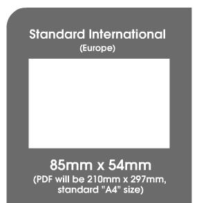 Taille Standard Europenne Carte De Visite