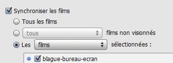 synchroniser film ipod video