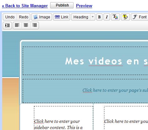 editer page web