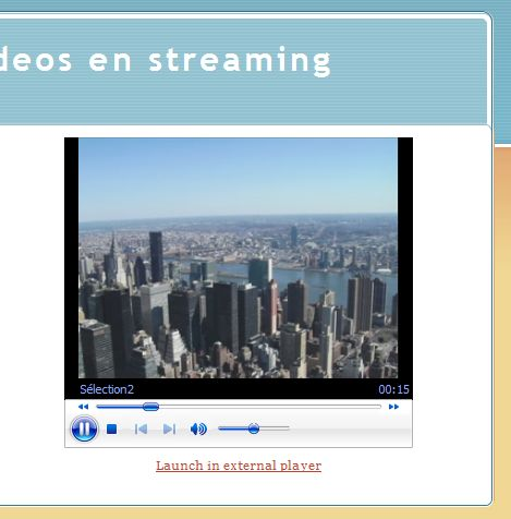video streaming sur google page creator