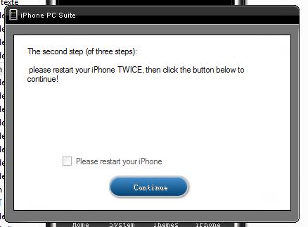 étape 2: on redémarre l'phone