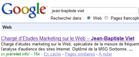 jean-baptiste viet sur google