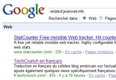 pages similaires dans google