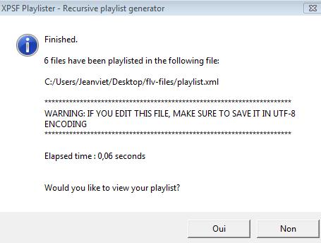 creation playlist xml