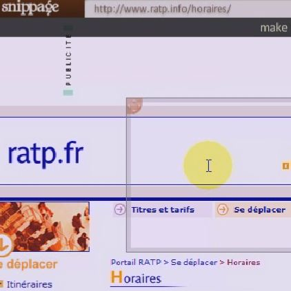 page horaire ratp