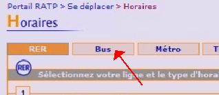 clic sur Bus