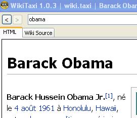 barack obama sur wiki taxi