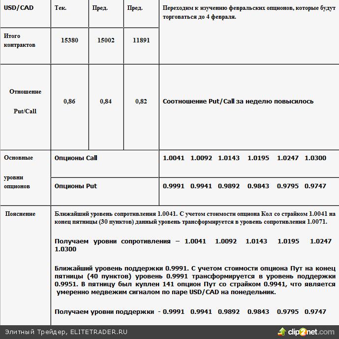 Опционные уровни на 31.01.11 - 2011-01-30