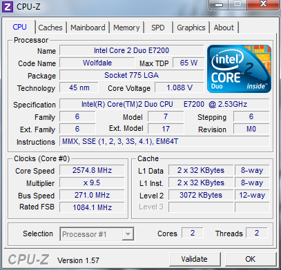 Разгон core 2 duo e7200