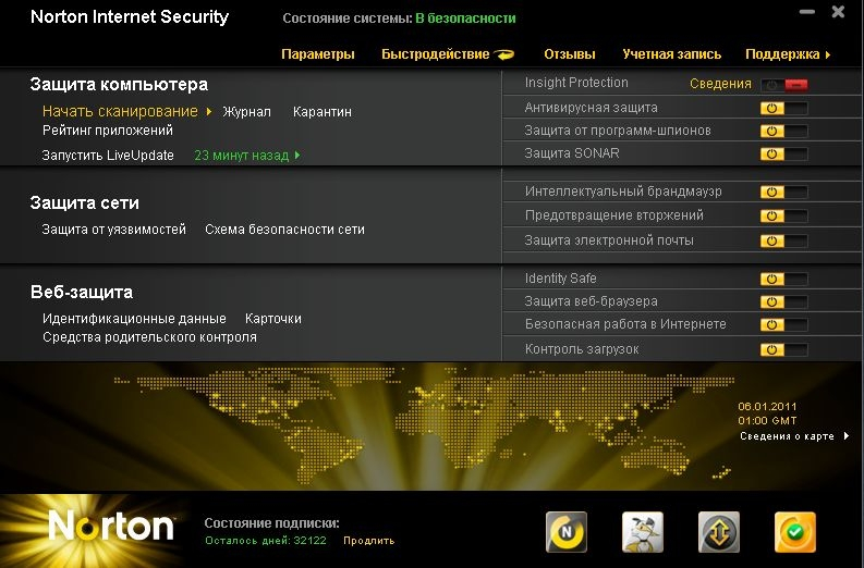 Скачать Norton 2011 Internet Security & Norton AntiVirus v.18.1.0.37 (R