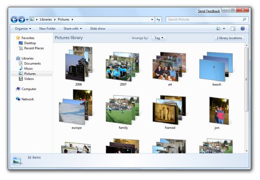 Windows 7 libraries