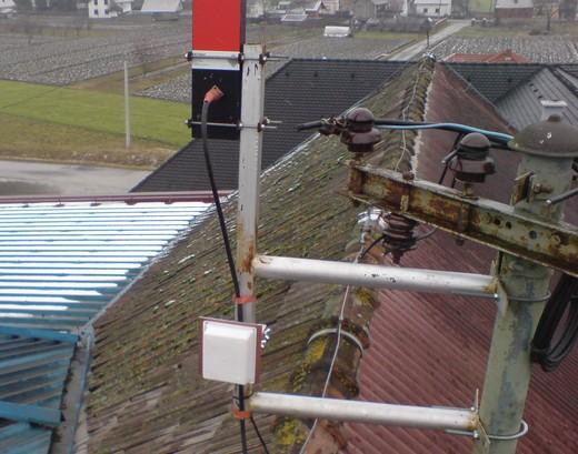 nova antena na krovu Mlina Janković