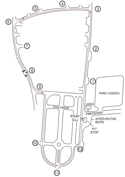 Automobilistička staza Glavica, Požega