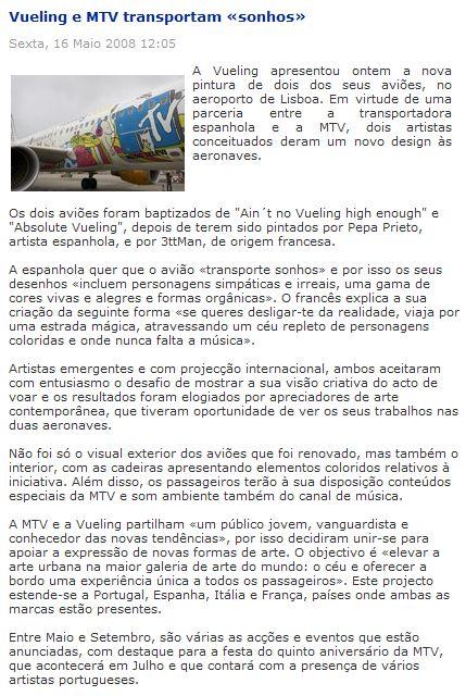 """[Internacional] Vueling e MTV transportam """"sonhos"""" 1211278085-clip-96kb"""