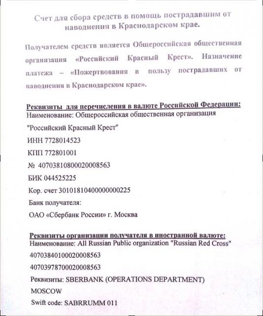 реквизиты краснодарского отделения сбербанка петлю