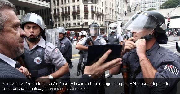 vereadores e policiais agredidos pela polícia de Alckmin e Kassab