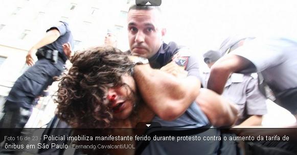 policiais de Serra ,Alckmin e Kassab agredindo manifestantes contra o aumento da tarifa de onibus de SP capital