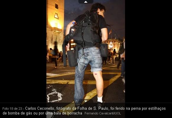 reporter do PIg Folha de São paulo acabou sendo agredidos tambem